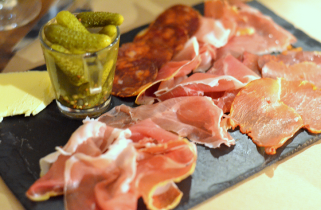 Slice up your hot dogs, add tiny pickles, and whaa-laa: charcuterie.